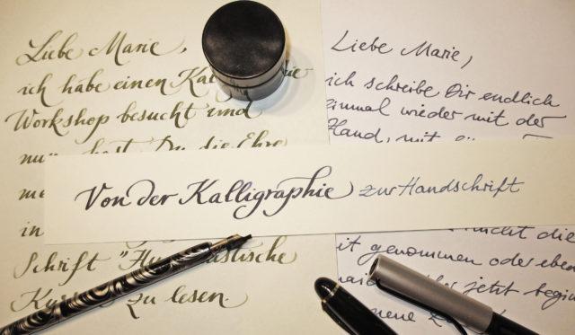 Header Von der Kalligraphie zur handschrift