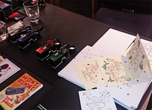 Kalligraphie-Event für MONTBLANC zum Thema Schreiben bei Ortloff in Köln