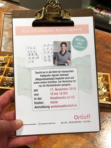 Ortloff Workshop Plakat